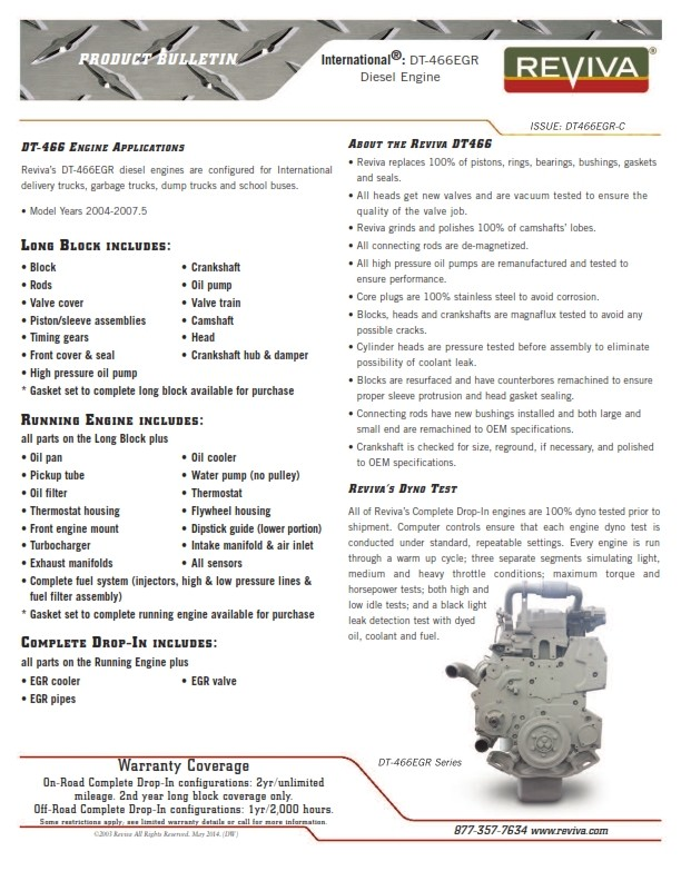 Detroit Diesel Series 60 Technical Specifications